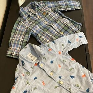 CARTERS BABY BUTTON-FRONT SHIRT 2-PC